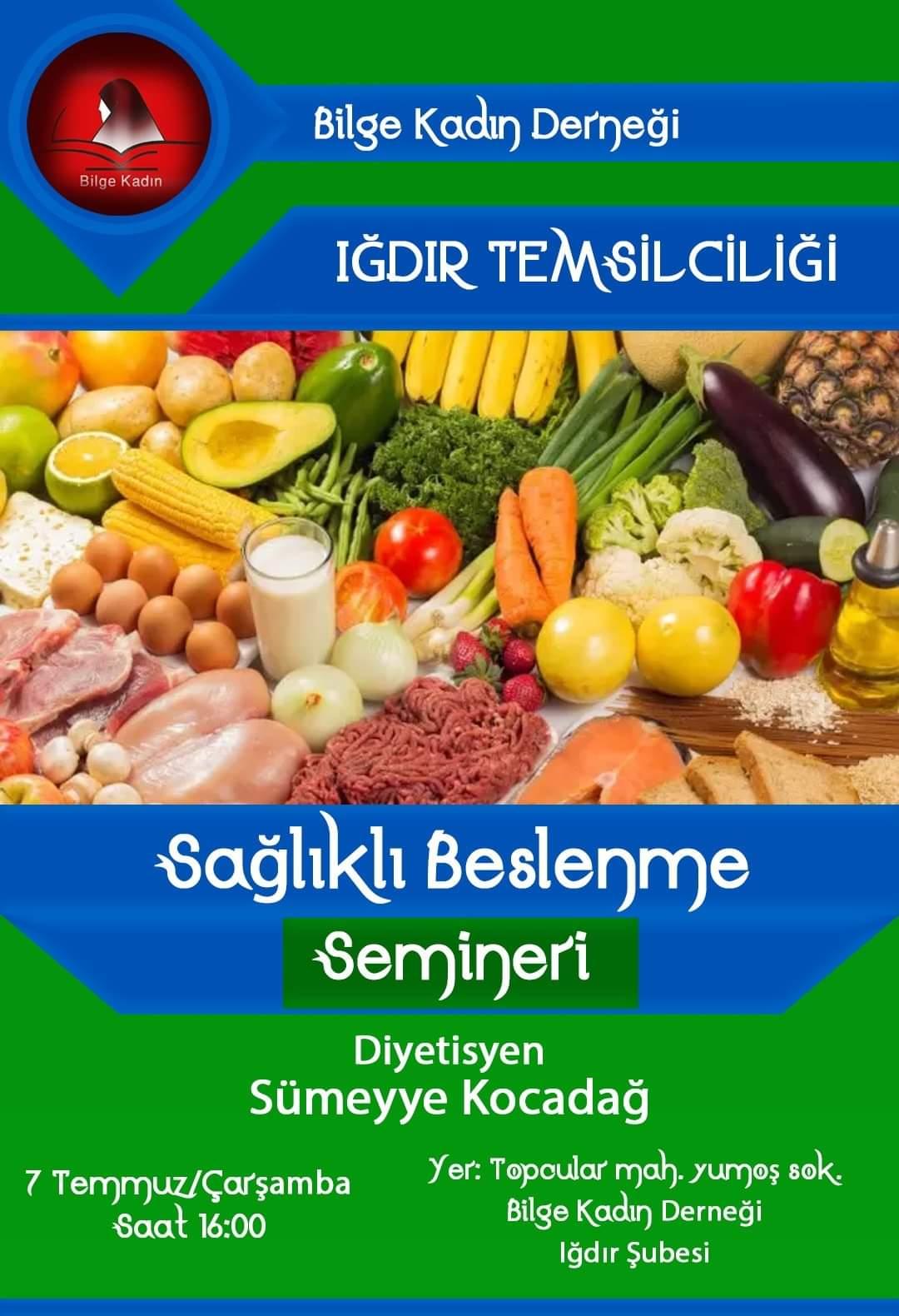Bilge Kadın Derneğinden Sağlıklı Beslenme Semineri