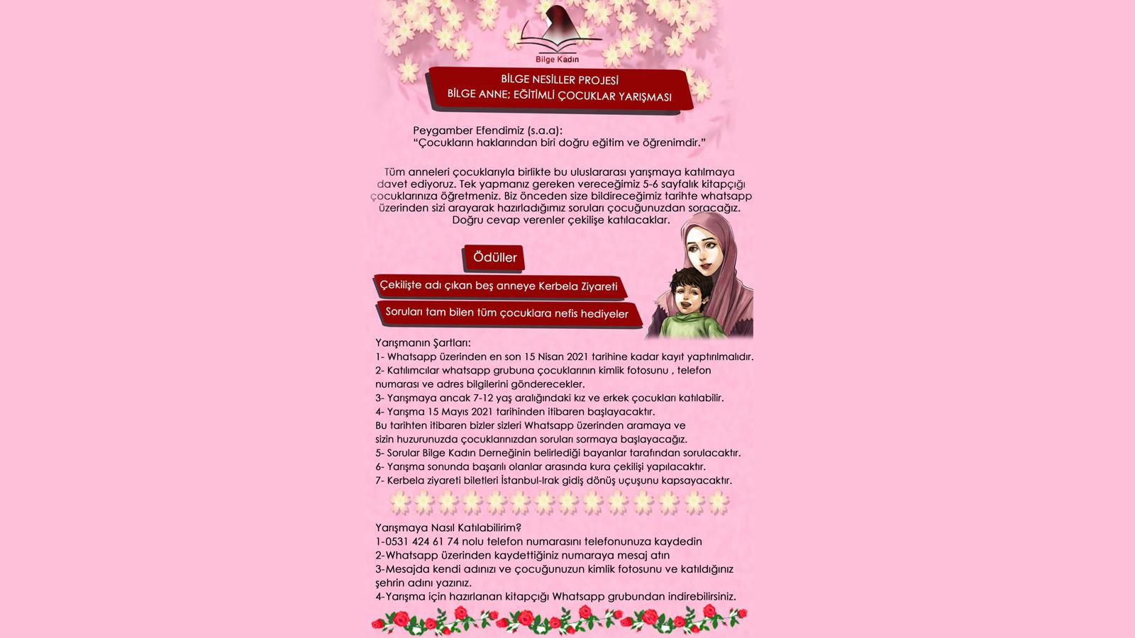 Bilge Kadın Derneğinden Muhteşem Yarışma